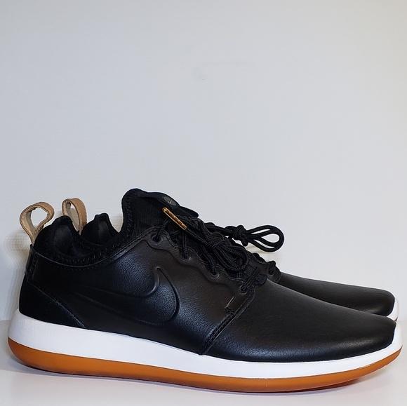 new photos e04ec 74943 Nike Roshe Two Leather Premium Men's Shoes Black NWT